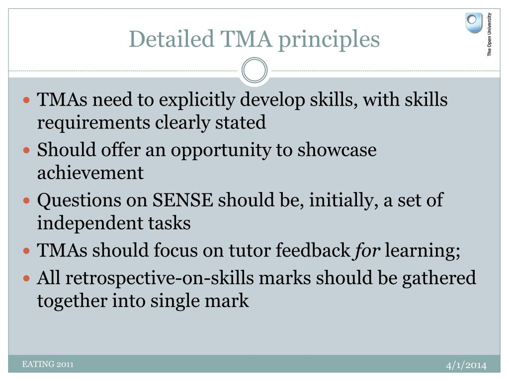Detailed TMA principles