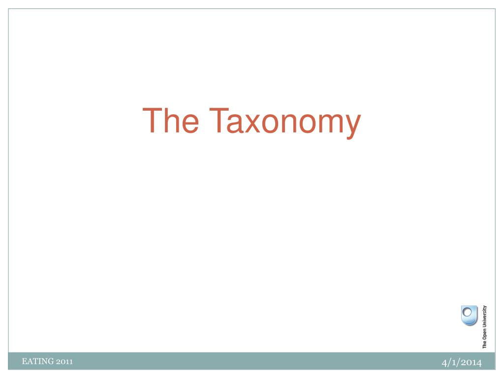 The Taxonomy