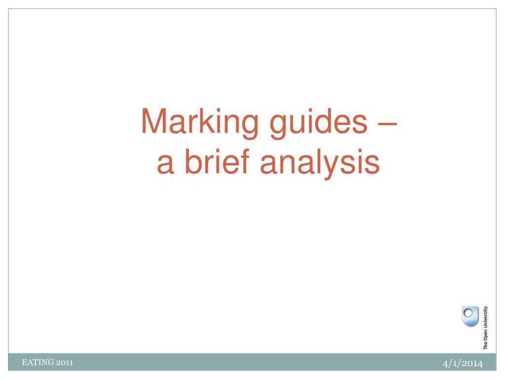 Marking guides –