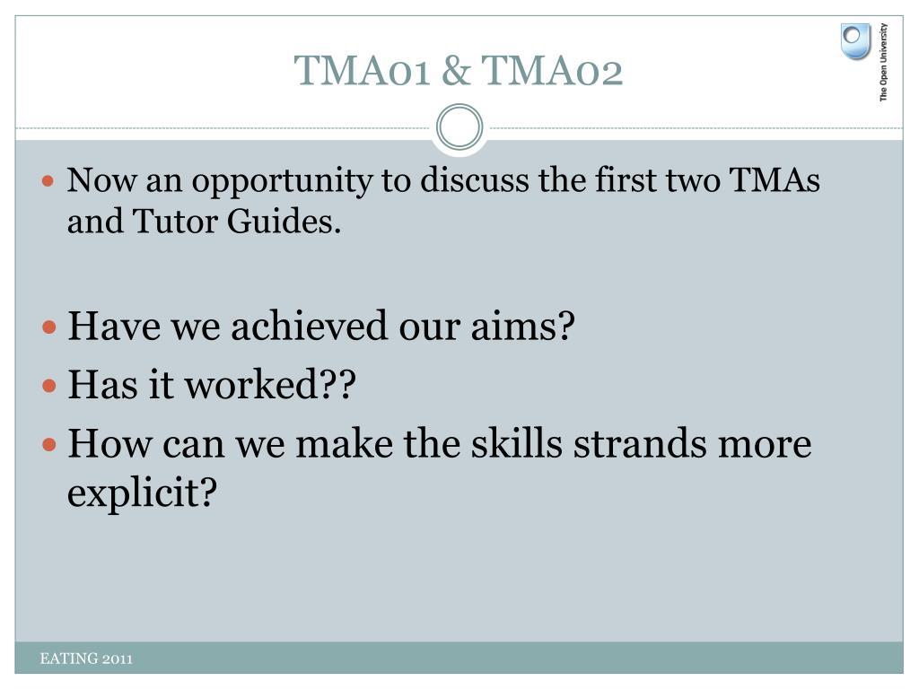 TMA01 & TMA02