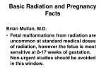 basic radiation and pregnancy facts
