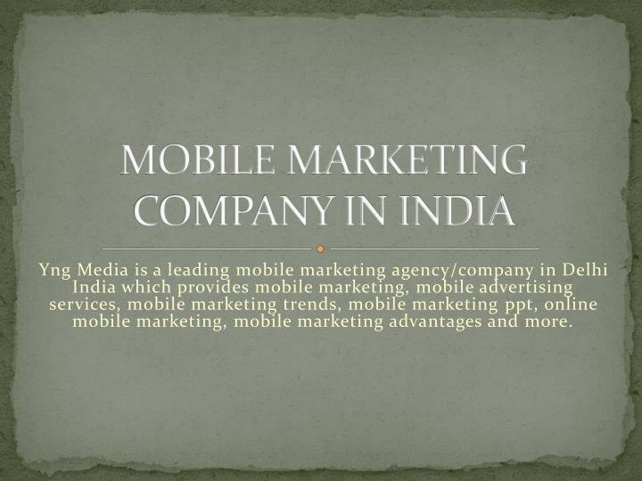 Mobile marketing company in india