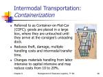 intermodal transportation containerization
