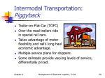 intermodal transportation piggyback