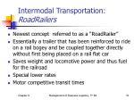 intermodal transportation roadrailers
