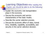 learning objectives after reading this chapter you should be able to do the following
