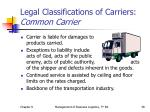 legal classifications of carriers common carrier1