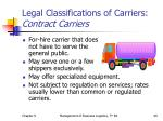 legal classifications of carriers contract carriers