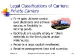 legal classifications of carriers private carriers1