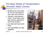 the basic modes of transportation domestic water carriers1