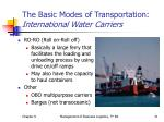the basic modes of transportation international water carriers2