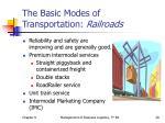 the basic modes of transportation railroads2
