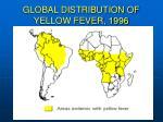 global distribution of yellow fever 1996