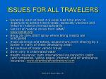 issues for all travelers