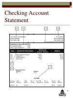 checking account statement