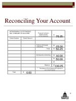 reconciling your account