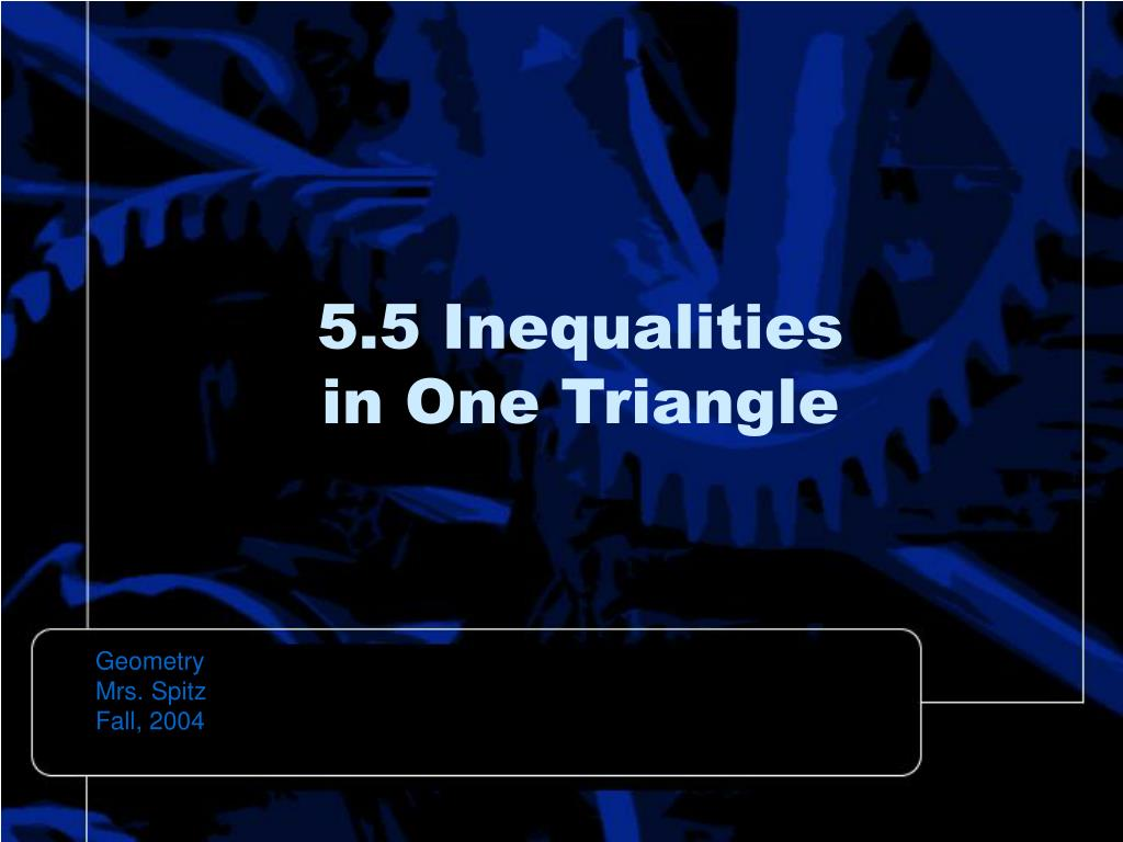 5.5 Inequalities