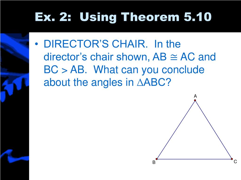 Ex. 2:  Using Theorem 5.10