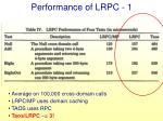 performance of lrpc 1