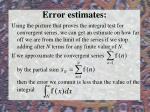 error estimates