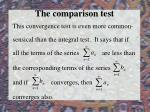 the comparison test