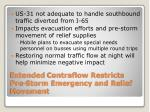 extended contraflow restricts pre storm emergency and relief movement