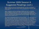 summer 2009 session 6 suggested readings cont3
