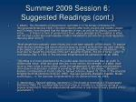 summer 2009 session 6 suggested readings cont4