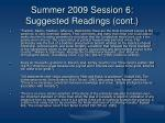 summer 2009 session 6 suggested readings cont5