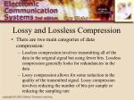lossy and lossless compression