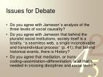 issues for debate