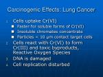 carcinogenic effects lung cancer