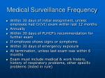 medical surveillance frequency