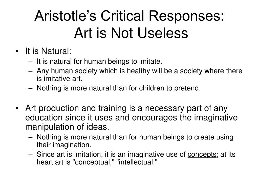 Aristotle's Critical Responses: