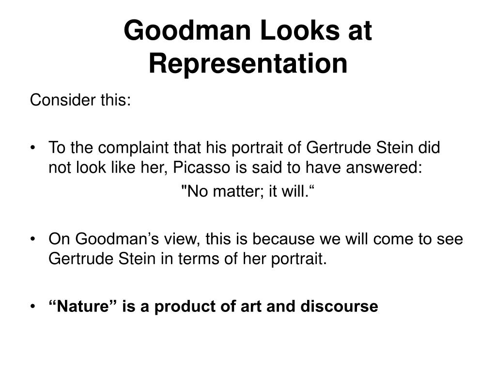 Goodman Looks at Representation