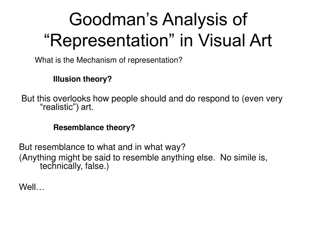 "Goodman's Analysis of ""Representation"" in Visual Art"
