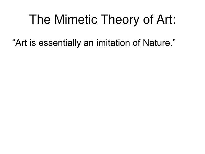 The mimetic theory of art