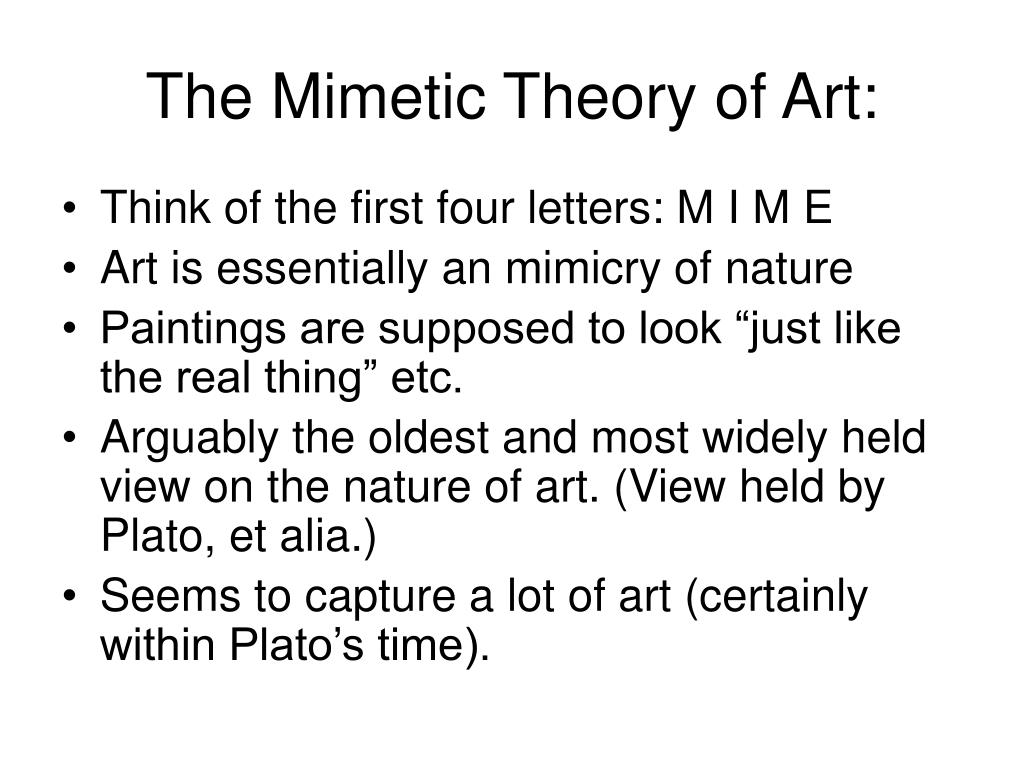 The Mimetic Theory of Art: