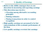 1 quality of earnings