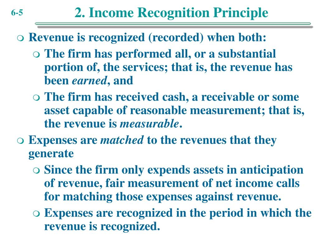 2. Income Recognition Principle