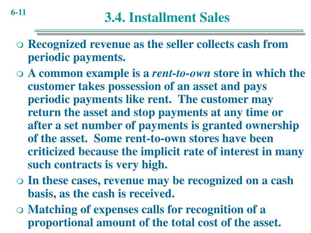 3.4. Installment Sales