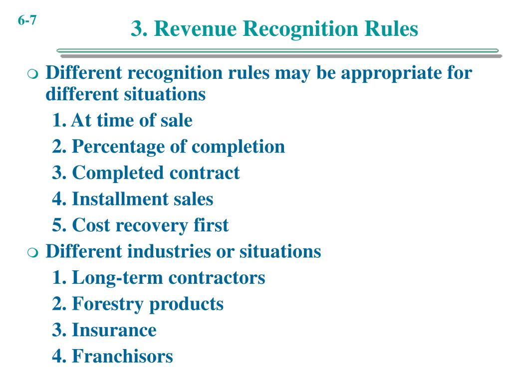 3. Revenue Recognition Rules
