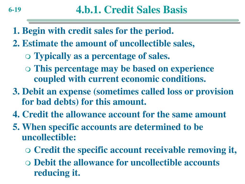 4.b.1. Credit Sales Basis