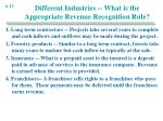 different industries what is the appropriate revenue recognition rule