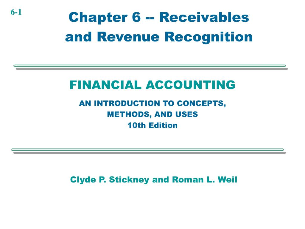 Chapter 6 -- Receivables