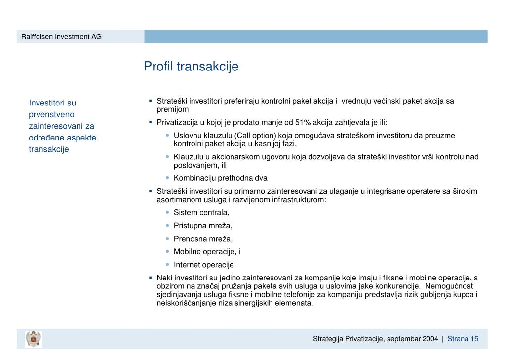 Profil transakcije