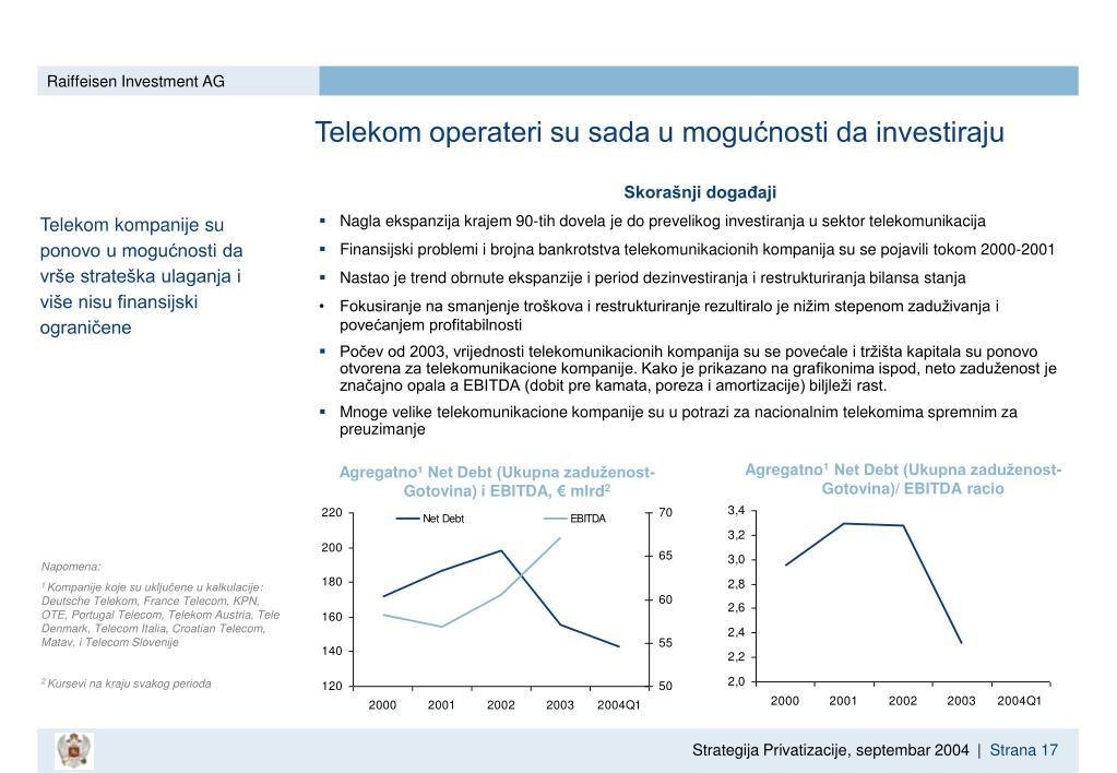 Telekom operateri su sada u mogućnosti da investiraju