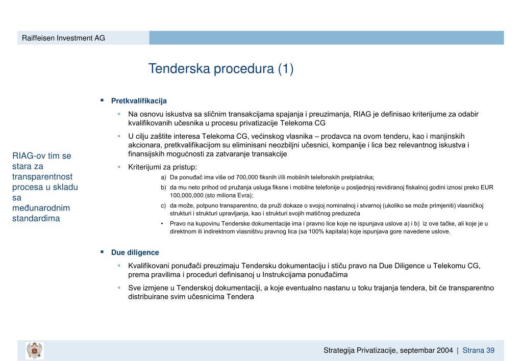 Tenderska procedura (1)