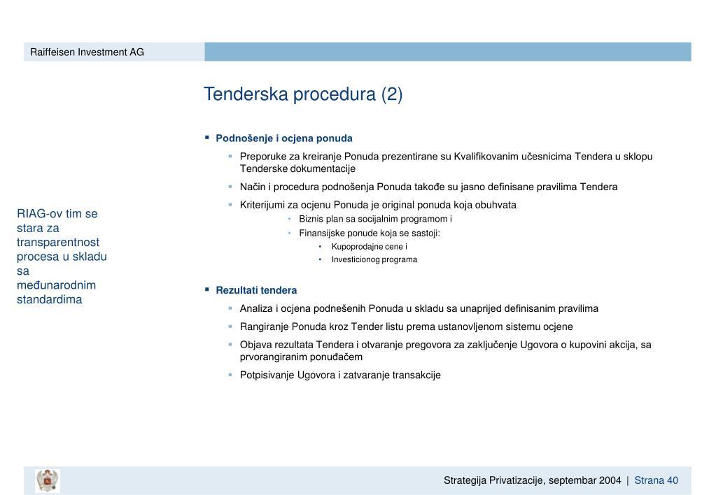 Tenderska procedura (2)
