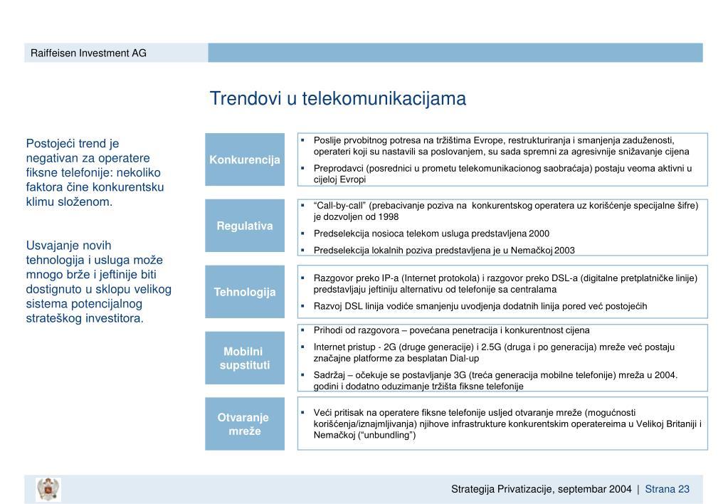 Trendovi u telekomunikacijama
